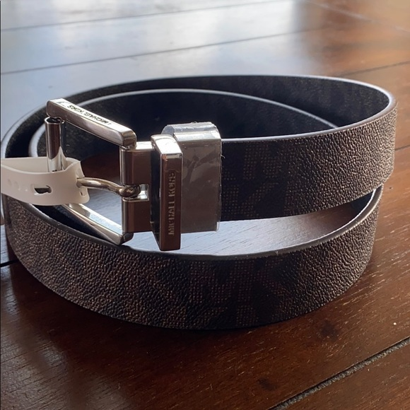 Michael Kors Reversible Signature Leather Belt NWT